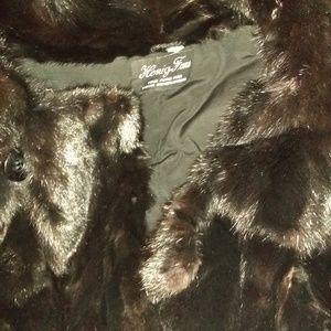 Hening Furs Jackets & Coats - Reversible Mink / Leather Pea Coat +Trench Mink